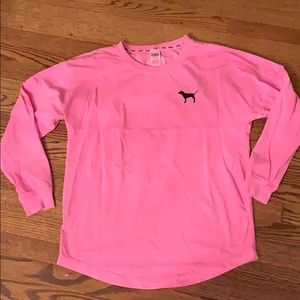 Pink Victoria's Secret size M long sleeve tee